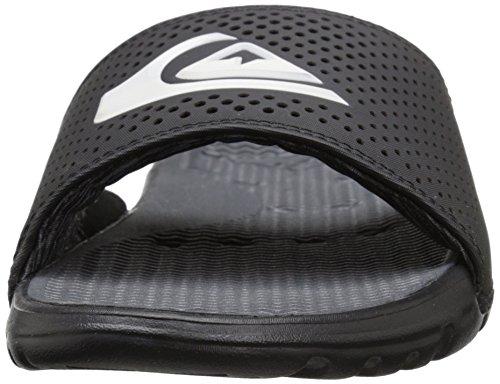 Quiksilver Herren Horizon Slider Flip Flops Sandalen Black/Black/White