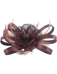 Kapmore Clip de pelo de Fascinator con pastillero broche coctel de la boda del sombrero