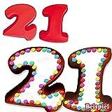 Backformen-Set Zahl 1 und 2 für 21. Geburtstag/Hochzeitstag, Silikonbackformen