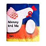 xihuanjia Bébé précoce éducation Puzzle Livre en Tissu 0-1-3 Ans Enfants Illumination sur Le Livre de Toilette de Bain Papier Larmes Pas Mauvais Livre en Tissu de Poule 18 * 18 cm
