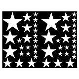 Samunshi Set de stickers étoiles, Blanc , 14x2,5cm 6x5cm 2x7,5cm 1x10cm