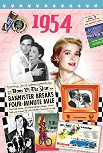 1954 Birthday Gift - 1954 DVD Film and 1954 Greeting Card