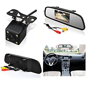 Auto Rover® Car Rear View Parking System with 4.3 Inch TFT LCD Car Rear View Mirror Monitor and Rear View IR Backup Reversing Rear View HD Camera
