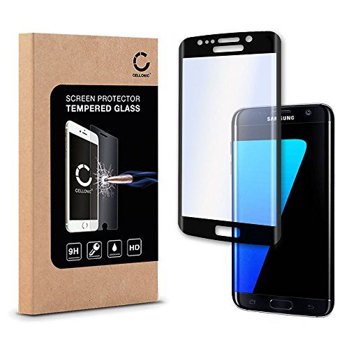 CELLONIC Displayschutz Hartglas für Samsung Galaxy S7 Edge (SM-G935 / SM-G935F) (HD- Qualität / 0,33mm / 3D Full Cover / Ultra-Klar) Schutzglas Displayschutzglas Glas Tempered Glass Panzerfolie Glasfolie
