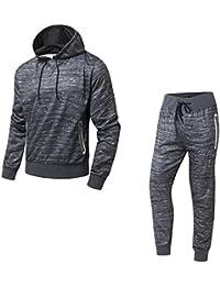 AIRAVATA Homme Vêtements de sport Sweatshirt à capuche Pantalon de Jogging Gym Survêtement