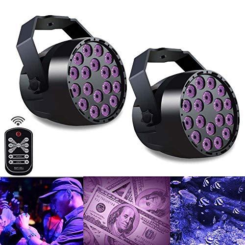 t LED Bühnenbeleuchtung Sound aktiviert Bar Licht mit 7 Modi Disco DJ Projektor Lampe für Weihnachten KTV Hochzeit Pub (2 Pack) ()