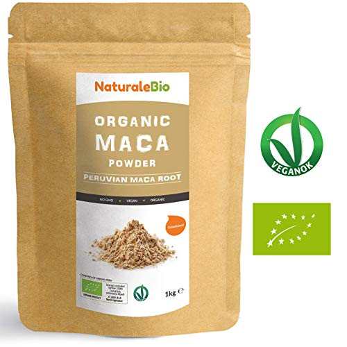 Organic Maca Powder [ Gelatinised ] 1kg | 100% Peruvian, Natural and Pure, Extract from Organic Maca Root. Superfood Rich in Amino acids, Fibre, Vitamins and Minerals | Vegetarian and Vegan Friendly.