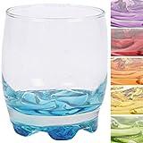 6 Trinkgläser 250ml bunte Boden Glas Wassergläser Saftgläser spülmaschinengeeignet farblich sortiert keine Auswahl möglich