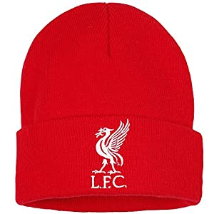 Official Football Merchandise Junior Liverpool FC Core Winter Beanie Hat (One Size) (Red)