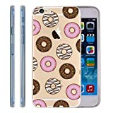 Ring Doughnut Pattern Clear iPhone 6 6S case - Chocolate donuts Ultra Thin TPU GEL Transparent iPhone 6S 6 Cover Skin 4.7""