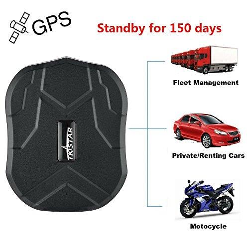 TKSTAR GPS Tracker 5 Monate Standby-Zeit Reale Positionierung Mini GPS für Auto / Motorrad Wasserdicht Magnet Stark und Batteria- GSM Genauigkeit innerhalb von 5 Meter Diebstahlsicherung, APP kostenlos TK905B
