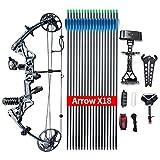 Compoundbogenset Topoint Verstellbar Pfeil und bogen erwachsene Bogen für Bogensport Bogenschießen 19-30