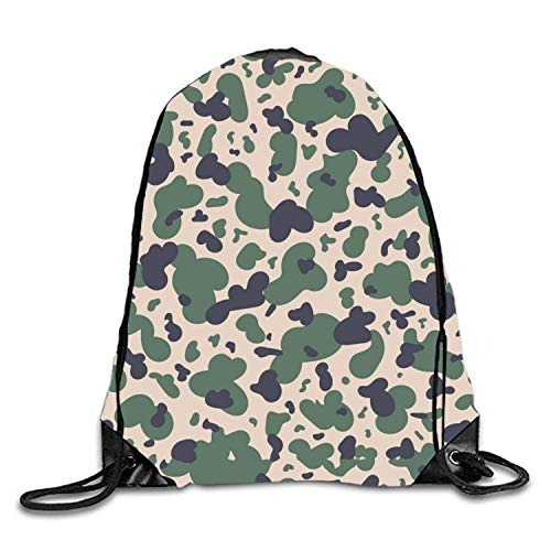 ucksäcke, Dye Military Camouflage Textile Drawstring Bags Party Favors, Arts Crafts Military Camouflage Textile12 Lightweight Unique 17x14 IN ()