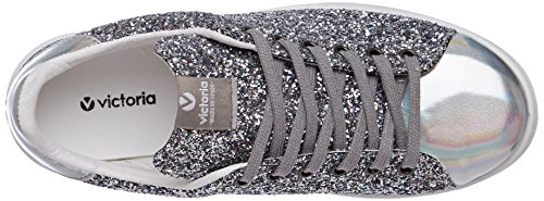 Victoria Deportivo Glitter, Baskets Basses Mixte Adulte Argent (Plata)