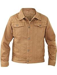 New Mens denim Regular fit Pocket poitrine 100% coton Summer bouton veste Casual