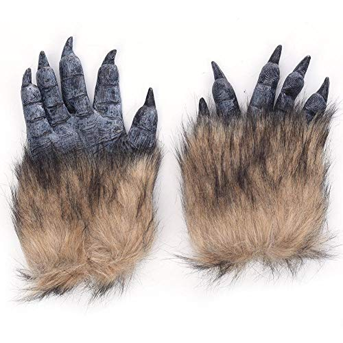Makluce Halloween realistische Latex Werwolf Handschuhe Cosplay Kostüm Party - Werwolf Kostüm Leicht
