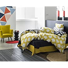 KAYLA - Juego de cama con borlas para 2 personas : Funda Nórdica 260x240 cm + Fundas de almohada 65x65 cm