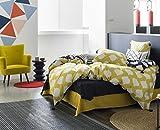 KAYLA en soldes - Parure de lit pour 1 ou 2 personnes : Housse de couette 200x200 cm + Taies d'oreiller 65x65 cm