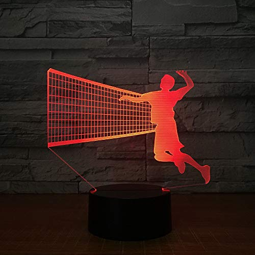 Men's Volleyball Block 3D LED Lamp 7 Color Led Night Lamps For Kids Touch Led Usb Table Lampara Lampe Baby Sleeping...