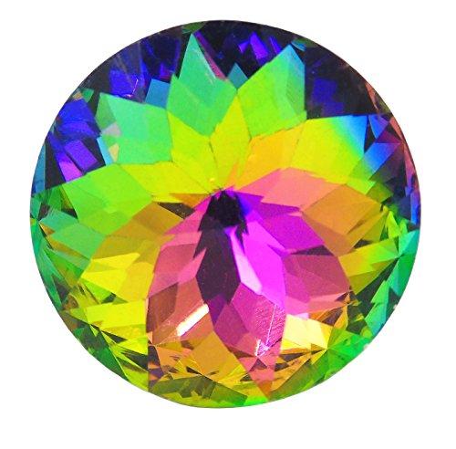 tecrio 12pcs-pack 30mm Colorful Kristall Glas Schrank Kleiderschrank Schrank Schublade Knauf Tür Pull Griff, gelb, CECOMINOD053573