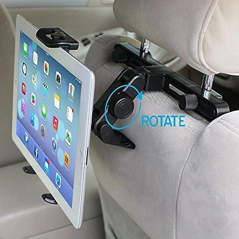 iKross Soporte Universal de Coche para Tablet 7 – 10.2 Pulgadas, Sostenedor para Reposacabezas del Coche, compatible con Samsung Galaxy Tab 3, Sony Xperia Tablet Z, Google Nexus 10, Apple iPad, BQ Aquaris y más, Color