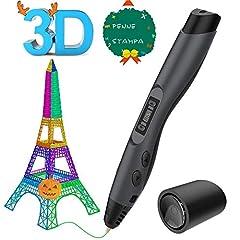 Idea Regalo - Aerb 3D Penna Stampa, Con Schermo LCD e Controllo della Temperatura, 8 diversi livelli Velocità regolabili, 3D Penna Compatibile Con PLA/ ABS, Regalo Per Bambini, Adulti, Artista