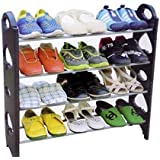 Inovera 4 Tier Free Simple Standing Home Organizer Stackable Shoe Rack