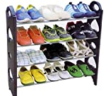 @@Overview@@This is our 12 pairs free standing 4 tiers shoe tower rack, which is perfect for home to organize a lot of shoes. Standard design with the 4-tier shoe rack can keep your all kinds of shoes as a storage. Your shoes will leave in a mess on ...