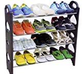 #9: 4 Tier Free Simple Standing Home Organizer Stackable Shoe Rack