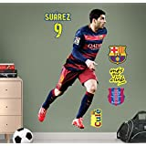 FC Barcelona Suárez - Vinilo decorativo oficial fútbol, 120 x 69 cm