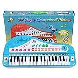 DAN DISCOUNTS Kinder Klavier, 37 Tasten Multifunktions Elektronische Kinder Tastatur Piano Music Instrument für Kleinkind mit Mikrofon- Blau