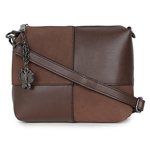 Butterflies Women Sling Bag (Coffee Brown) (BNS-B-2472#CFE)