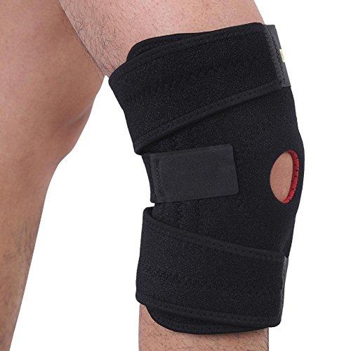 f8015bff61 Rodillera de apoyo para mujeres y hombres de compresión estabilizada con  correa ajustable de rótula abierta