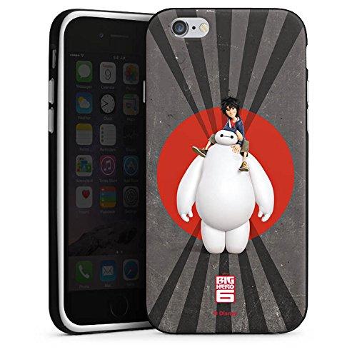 Apple iPhone X Silikon Hülle Case Schutzhülle Disney Baymax und Hiro Merchandise Zubehör Silikon Case schwarz / weiß
