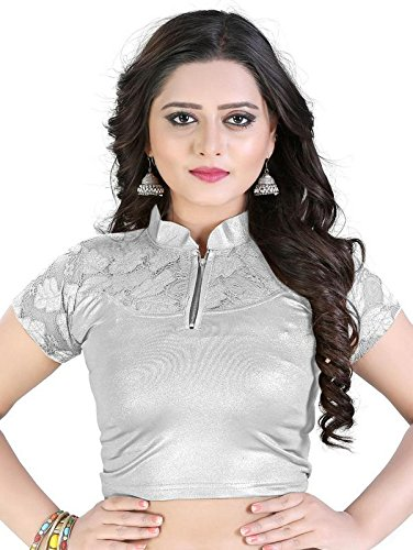 PRE SMART SILVER READYMADE STITCHED LYCRA BLOUSES