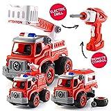 Top Race Fernbedienung DIY Feuerwehrauto Bausatz 3 in 1 Akku-Bohrmaschine und Fernbedienung | 54 Stück (TR-DIY200)