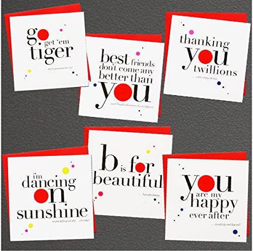 (8Stück Grüße Jahrestag Valentinstag Love sortiert blanko auf der Innenseite Note Karten–Grußkarte Bulk Box Set–8Bright Verkauft auf sie Aufstellkarten mit Poppy rot Umschläge enthalten 150mm x 150mm)