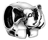 Nena Lina Elefant Bead brillante parcialmente oxidado en{925} plata de ley, también para Pandora pulseras, 719151-000