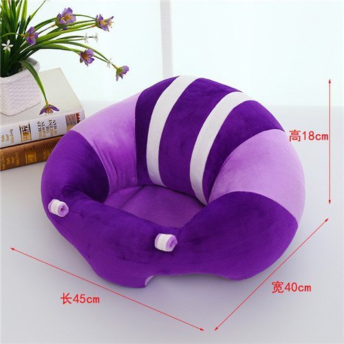 Uni Best Baby Sitting Chair Nursery Pillow Protectors, Colorful Pattern Lovely kids Baby Support Seat Soft Car Pillow Cushion Sofa Plush Toys - Children's Furniture Round Chair Seat (purple)