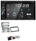 caraudio24 Kenwood DDX4019DAB USB DVD DAB MP3 Bluetooth 2DIN Autoradio für Peugeot 307 207 Expert Partner Klavierlack
