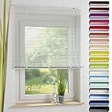 ourdeco® Aluminium-Jalousie / 110 x 160 Apricot (Breite x Höhe) / Montage an Wand oder Decke, Premium Alu-Jalousie