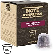 Note d'Espresso Plum and Cinnamon Infusion Capsules exclusively Nespresso* Compatible 3g x 40 Capsules