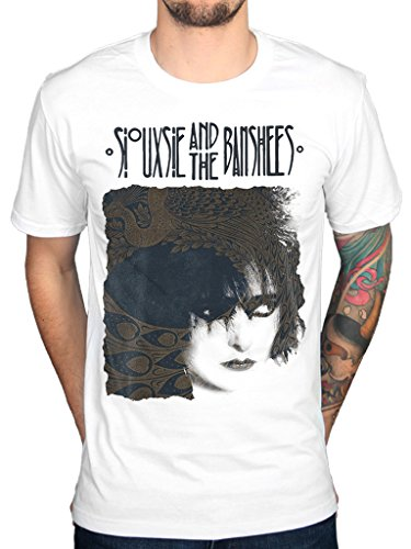 Official Siouxsie and The Banshees White Face T-Shirt, Men's S to XXL