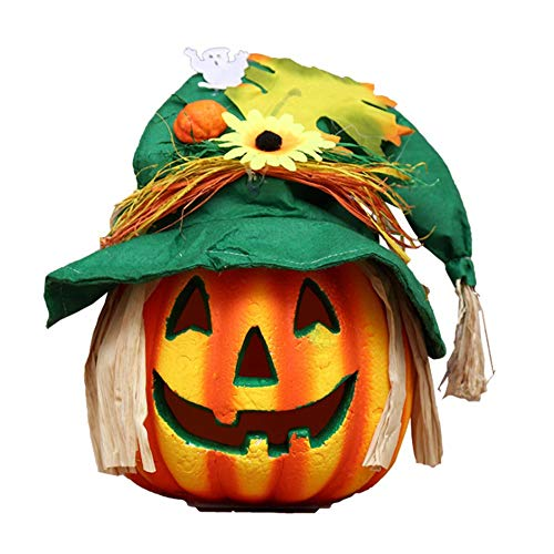 Belupai decorazione di halloween lanterna luce di zucca per halloween christmas house party decorazione di ktv prop light (a-large)