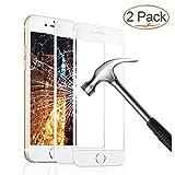 Panzerglas Schutzfolie für iPhone 6 6s, 2 Stück Ultra-klar 3D Vollständige Abdeckung 9H Härtegrad 4,7 Zoll 3D Panzerglasfolie Displayschutzfolie für iPhone 6 6s