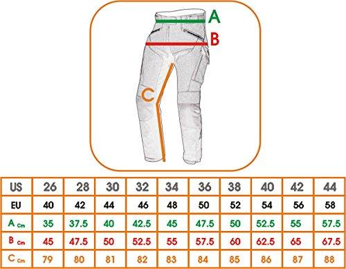 A-Pro textilhose Mesh professionale Frecce stagione estiva protezioni CE/ Nero /28