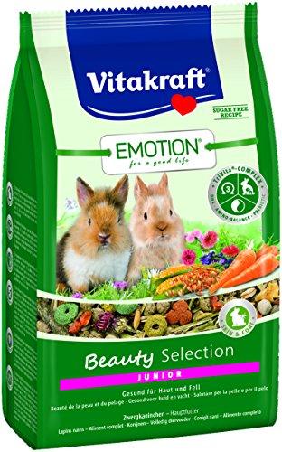 Vitakraft Emotion BeautySel. Junior Zwergkaninchen 5x  600g - Kornblume-extrakt