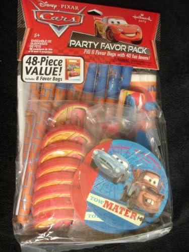 Disney Cars 48 pièces Coffret Party - 8 sacs et 40 jouets Voitures | Distinctif
