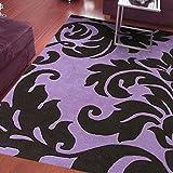 RXIN zy Modern Jane European IKEA Lila Blumen Schlafzimmer Wohnzimmer Couchtisch Bedside Hotel Büro Tagungsraum Teppich, 700mm * 1400mm