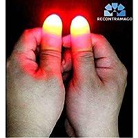 Trucos de Magia - Magia con luces que aparecerán y desaparecerán en tus manos. Nuevo sistema mejorado. Dos pulgares Luminosos trucos de magia para adultos. Incluye link a video demostrativo por magos profesionales de RecontraMago magia de RecontraMago
